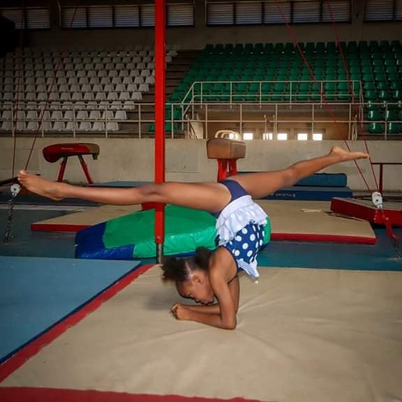 Meet the 8-year-old Nigerian Girl who Won a Gold Medal At The African Gymnastics Championship In South Africa