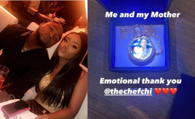 Chioma Melts Davido's Heart With 'Emotional' Birthday Gift(Photo)