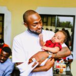 See Adorable photos of Davido cuddling Regina Daniels' son, Munir (Photos)