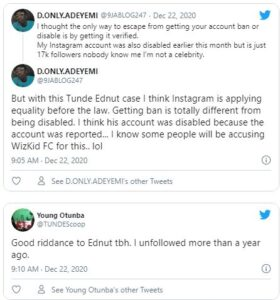 Instagram disables Tunde Ednut Account With Over 2 Million Followers