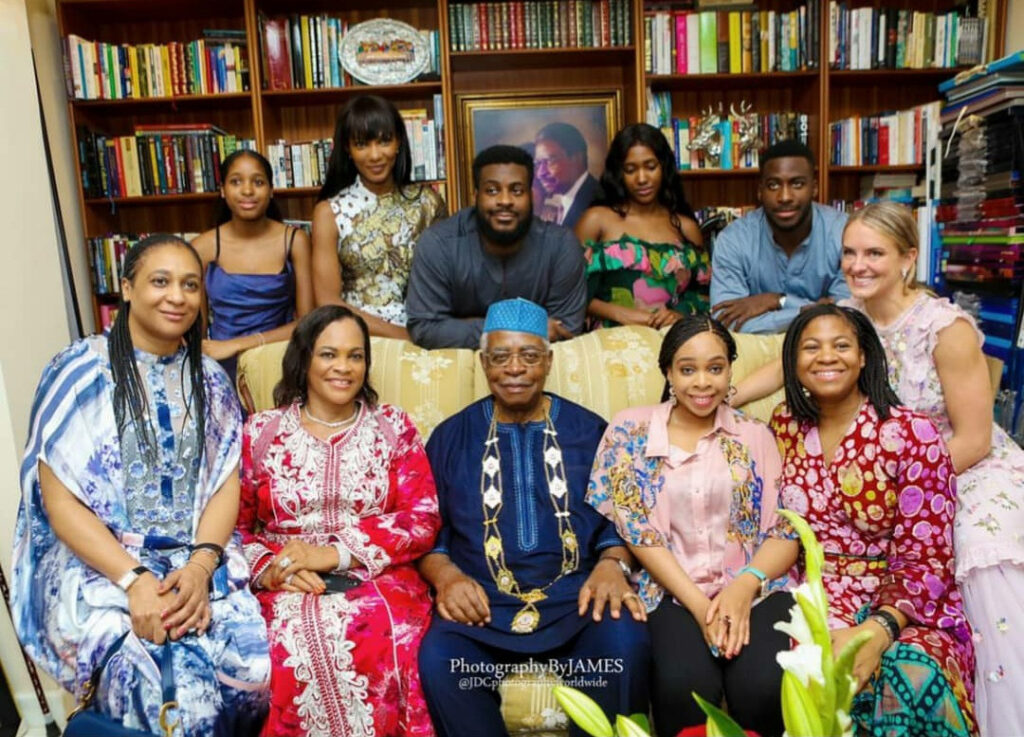 Adorable family photo of Agbani Darego with her in-laws, The Danjumas