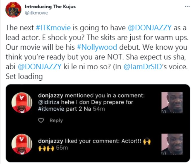 Don Jazzy makes Nollywood debut in 'Introducing The Kujus'