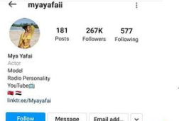 Mya Yafai, Davido's new gf deletes all her photos and deactivates her Instagram account after photos of her kissing the singer went viral