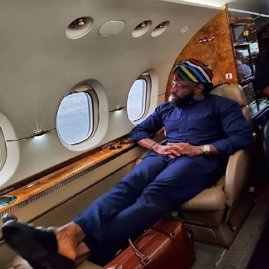 Photos: Timaya shows off his new private Jet